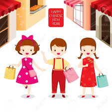 new year shopping new year children shopping together shopping retail