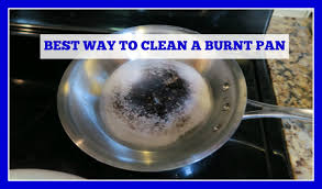 how to clean a stainless steel burnt pan or pot easy method