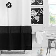 Classic Shower Curtain Black And White Fabric Shower Curtain Foter
