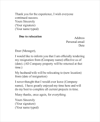 thank you resignation letter 6 free word pdf documents