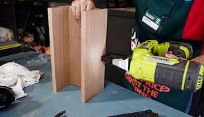 d i y wooden sofa arm table bunnings warehouse nz