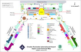 Airport Terminal Floor Plans by Greater Rochester International Airport Monroe County Ny