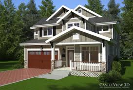Craftsman Style Home Designs Exterior Architectural Renderings From Castleview3d Com