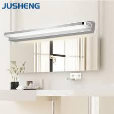 aliexpress com buy jusheng modern linear led mirror lights in