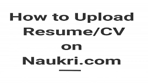 Quikr Post Resume How To Upload Resume Cv On Naukri Com Youtube