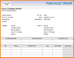 Free Excel Purchase Order Template 7 Purchase Order Template Excel Itinerary Template Sle