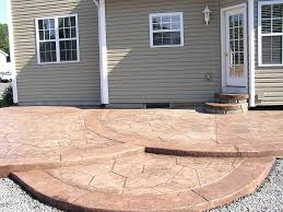 Backyard Concrete Slab Patio Ideas Painting Concrete Patio To Look Like Tile Can You