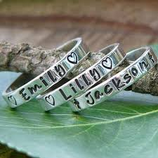 stackable engraved rings shop mothers rings stackable on wanelo