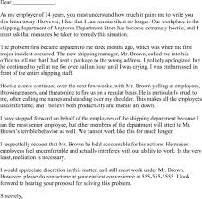 hostile work environment complaint letter sample docoments ojazlink