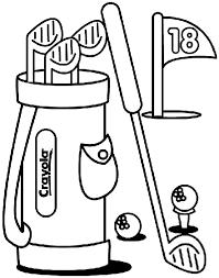 Golf Coloring Page Crayola Com Jackie Robinson Coloring Page