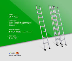 Mtr To Ft by Kalco Dl K 7002 Aluminum Wall Supporting Straight Ladder Step