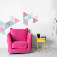 large geometric triangle vinyl wall stickers by oakdene designs large geometric triangle vinyl wall stickers