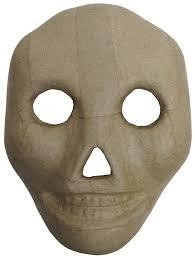 paper mache kid skull mask 9 1 2 in createforless