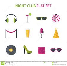 cocktail icon vector night club cocktail party disco music icon set vector flat