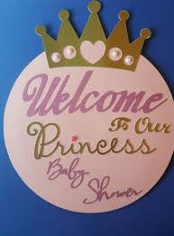 baby shower welcome sign its a girl baby shower welcome sign door sign princess theme
