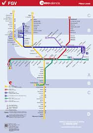 Metro Maps Valencia Metro Map Map Of The Underground System In Valencia Spain