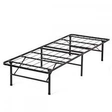 Platform Metal Bed Frame Mattress Foundation Modern Bi Fold Folding Platform Metal Bed Frame Mattress