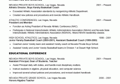 Football Coaching Resume Samples by Student Resume Examples Resume Example