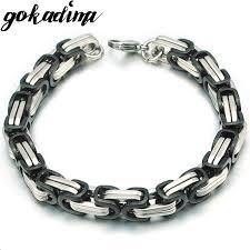 man chain bracelet images Men bracelet byzantine stainless steel links chain for man new jpg