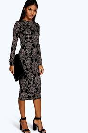 midi dress fiona printed midi dress boohoo