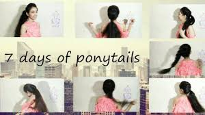how to ponytail hairstyle for college work 7 days of