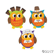 owl thanksgiving magnet craft kit trading