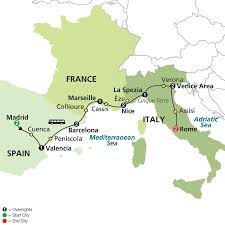 Map Of Spain And Italy by Cosmos Tours Mediterranean Flavors 2016