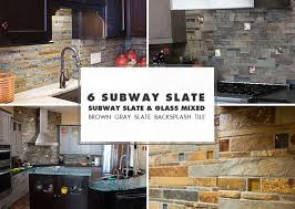 Tumbled Slate Backsplash by Slate Backsplash Tile Ideas Projects Photos Backsplash Com