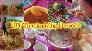 kids thanksgiving desserts diy thanksgiving desserts 感謝祭のデザートづくり youtube