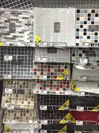 Temporary Wallpaper Tiles by Kitchen Smart Tiles Home Depot In White For Pretty Wall