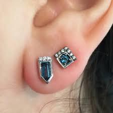 blue stud earrings cirque arrow stud earrings with london blue topaz