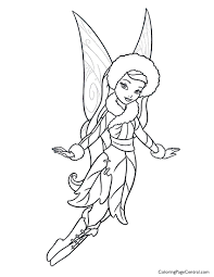 tinkerbell u2013 silvermist 01 coloring page coloring page central