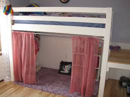 Low Bed Ideas Bennington Low Loft Twin Bed With Bottom Curtain And Slide Bolton