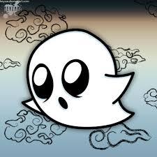 chibi ghost drawing by keyzar on deviantart