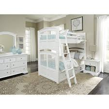 White Twin Over Full Bunk Bed With Stairs White Wooden Bunk Bed With Drawers On The Stairs Combined With