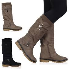 womens winter boots size 11 vh6 womens black buckle grip sole mid calf winter womens