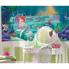 little mermaid wallpaper mural disney princess ariel wall accent little mermaid wallpaper mural disney princess ariel wall accent decor