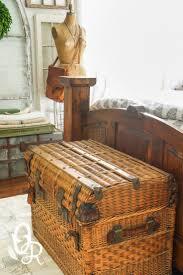 wicker basket with leather handles best 25 wicker trunk ideas on pinterest rustic decorative