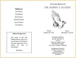 template for funeral program funeral program templates funeral 20program 20template 204 front