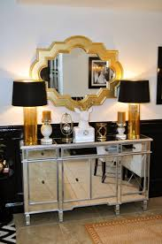 best 25 mirrored sideboard ideas on pinterest dining room livelaughdecorate a black white and gold reveal love this color combo in this living room dining room