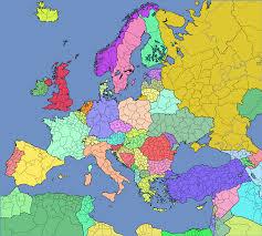 Map Of Eu Regions Of Europe Map Thefreebiedepot