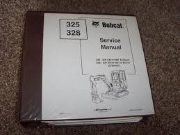 bobcat ingersoll rand 325 328 excavator factory shop service