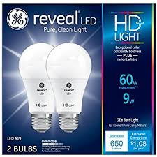 ge 10 5 w reveal led hd light bulbs 2 pack 60w replacement