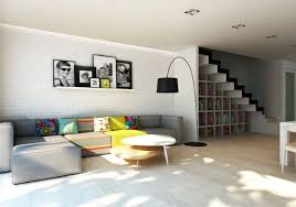 Concepts In Home Design Wall Ledges by Interior Contemporary Living Room By Sectional Sofa And Colorful