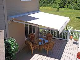 Images Of Retractable Awnings Blue Retractable Awnings And White Railing Deck Ideas