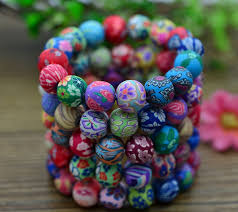 beaded bracelet girl images Polymer clay fruit bracelets for little girls baby girl jpg