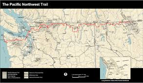 Washington Trail Maps by The Pacific Northwest National Scenic Trail Olympic National