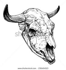 bison skull tattoo stock images royalty free images u0026 vectors