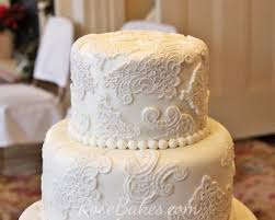 lace wedding cake rose bakes