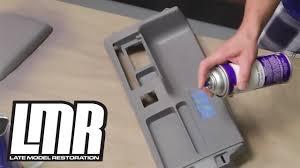 fox mustang interior restoration how to paint dye interior vinyl plastic parts mustang tech